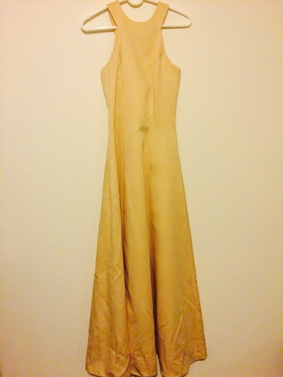 Jim Hjelm Occasions Cream Yellow Tone Bridesmaid/Mob Dress Size 2 (XS)