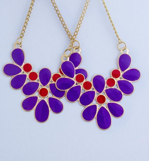 0 Degrees Purple/ Red Colors Drop Earrings For Woman!