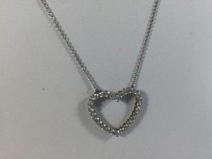 Tiffany & Co. Platinum Diamond Heart Pendant