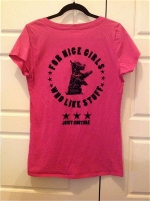 Juicy Couture T Shirt Hot Pink