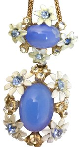 Vintage estate LIGHT BLUE CAB RHINESTONE : Beautiful piece