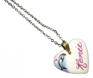 unknown Ceramic Heart Necklace