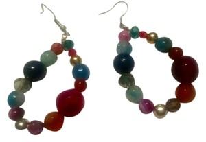 Other Multi Color Gemstone Earrings Agate Carnelian J415 Summersale