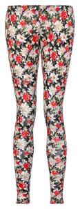 StyleMint Floral Stretchy Mary Kate & Ashley Olsen Multi Colored Leggings