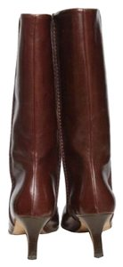 Marni Bootie Stiletto Designer Chocolate Brown Boots