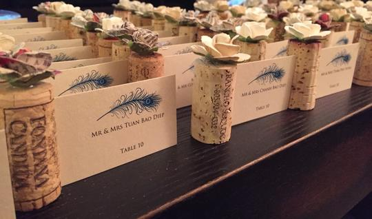 Wine Cork Escort Card Holder