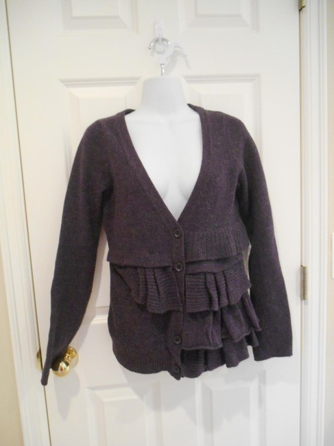 Anthropologie Xs S Small Extra Small Lavender Wool Wool Blend Warm School Office Work Ski Snow Fall Buttons Button Up Shirt D S Sweater