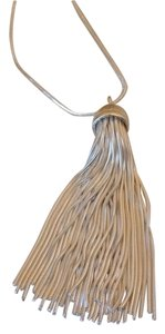 Sterling silver tassel necklace 32