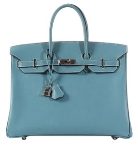 Hermès Epsom Leather Blue Satchel