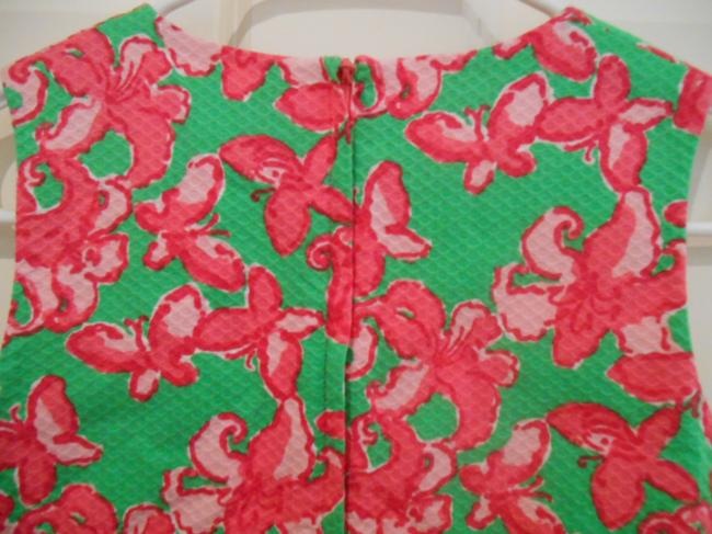Lilly Pulitzer short dress Green and Pinks Preppy Classic Traditional Country Club Golf Tournament Florida Spring Break Travel Cotton Lined Zip Pockets Girls 14 on Tradesy
