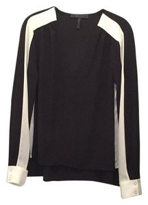 BCBGMAXAZRIA Alaine Top Black & White
