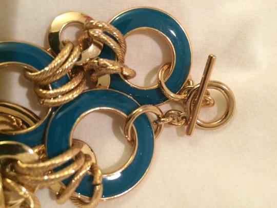 Banana Republic Teal And Gold Bracelet