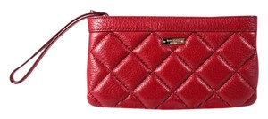 Kate Spade Quilted Leather Wristlet in Red