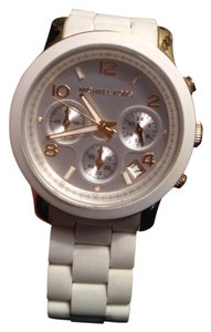 Michael Kors Michael Kors White and Gold Watch