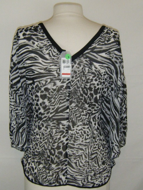 Guess Top BLACK AND WHITE