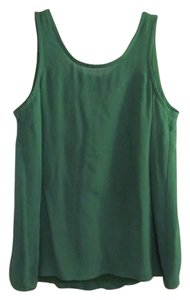 Marc by Marc Jacobs Silk Scoop Back Top Green