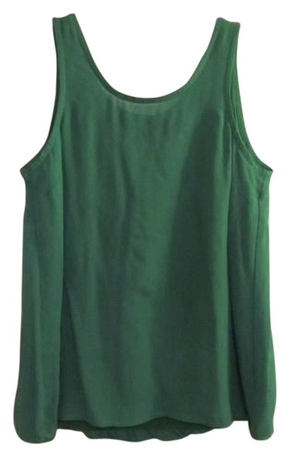 Marc by Marc Jacobs Layered Chiffon And Jersey Top Green