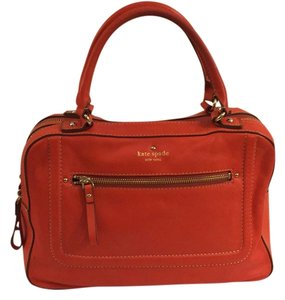 Kate Spade Spring Leather Satchel in Orange