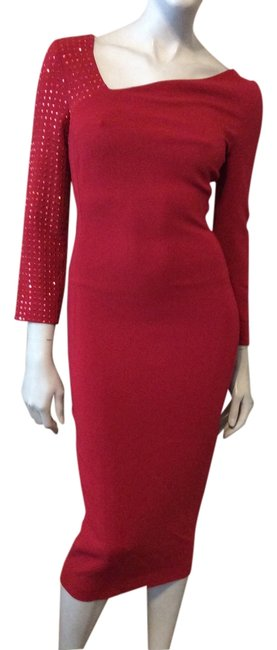 Preload https://img-static.tradesy.com/item/14164870/just-cavalli-red-jeweled-mid-length-night-out-dress-size-0-xs-0-1-650-650.jpg