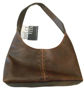 Dolce Vita Vegan Faux Leather Zip Zipper Handbag Earthy Edgy Practical Stitching Tan Leather Look Hand Tote Coachella Shoulder Bag