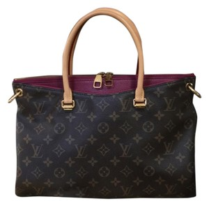 Louis Vuitton Satchel in Pallas Aurore in Brown Monogram. Made in USA. Date code SD0184. With strap, box, receipt, dustbag, and care booklet! Gorgeous