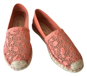 Valentino Lace Flat Coral Flats