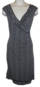 Max Studio Knit Sleeveless Mock Wrap Dress