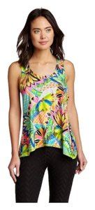 Trina Turk Trina Turk Bora Draped Cross-Back Floral Tank Top