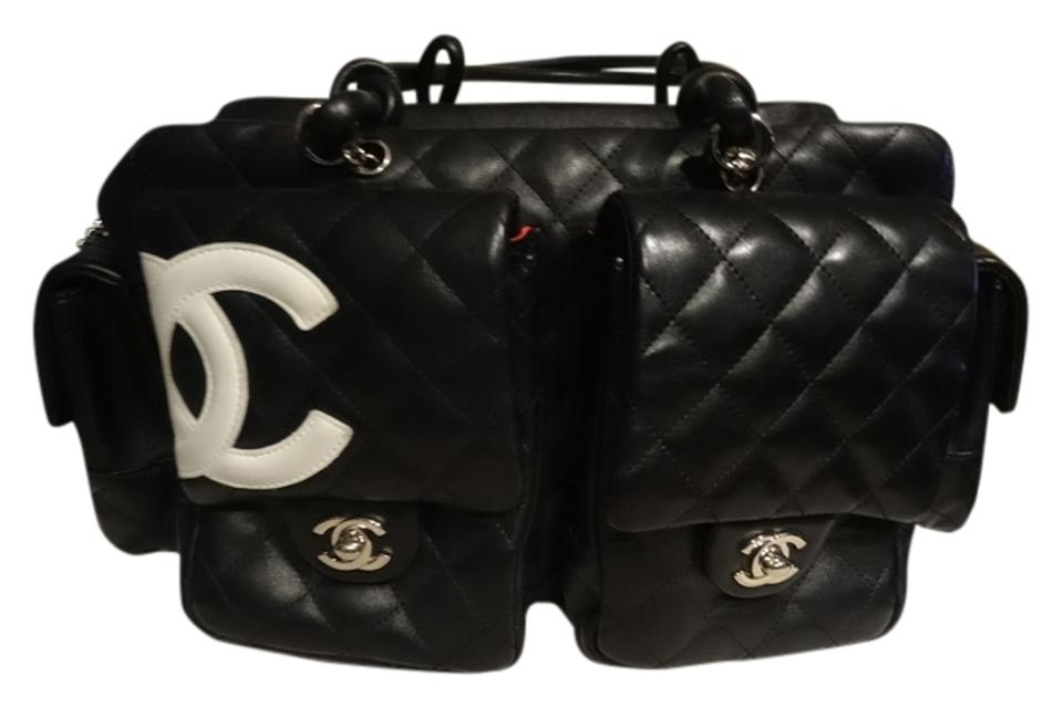 5dbfa1c9a5f5 Chanel Cambon Ligne Quilted Reporter In Black Leather Shoulder Bag ...