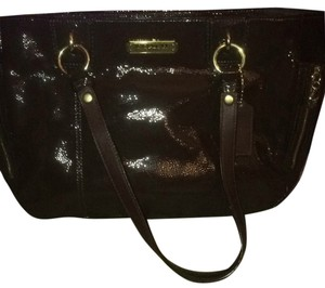 Coach Leather Shoulder Tote in Brown