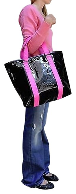 Item - Marc By  Shiny Designer Handbags Shoulder Bag Purse Tote Black Pink