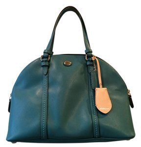 Coach Leather Satchel in Jade