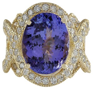 Foreli Estate 10.62CTW Natural Tanzanite & Diamond 14K Gold Ring