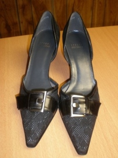 Stuart Weitzman Leathe Leather Heels Women's Designer Black Pumps