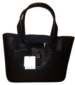 Calvin Klein Leather Shopper Shoulder Bag