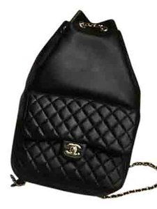 Chanel Leather Chain Backpack