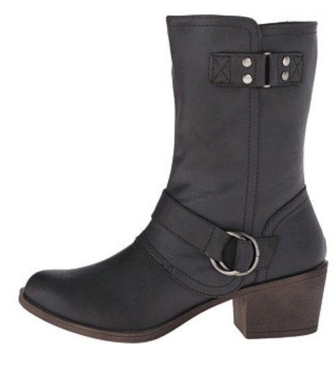 Rampage Faux Leather ** Dark Grey Boots