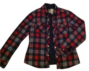 Urban Outfitters Quilted Red/Blue Plaid Jacket