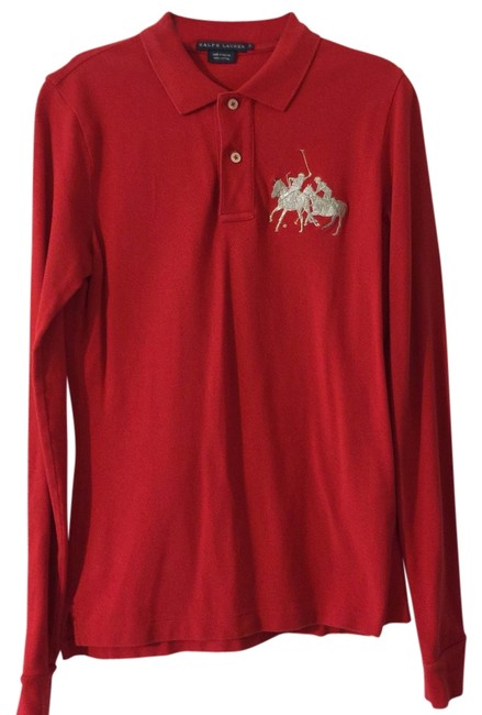 Preload https://img-static.tradesy.com/item/14170636/ralph-lauren-red-long-sleeve-polo-tee-shirt-size-4-s-0-1-650-650.jpg