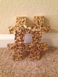 Target Gold Hashtag Sign Reception Decoration
