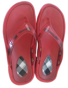 Burberry Brit Red Sandals