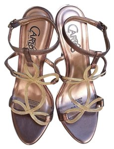 Carlos by Carlos Santana Metal Mesh Bronze Sandals