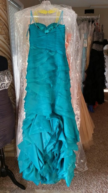 Terani Couture Pageant Prom Strapless Dress