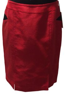 W by Worth Skirt Red and Black