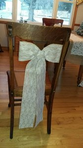Burlap And Lace Isle Bows
