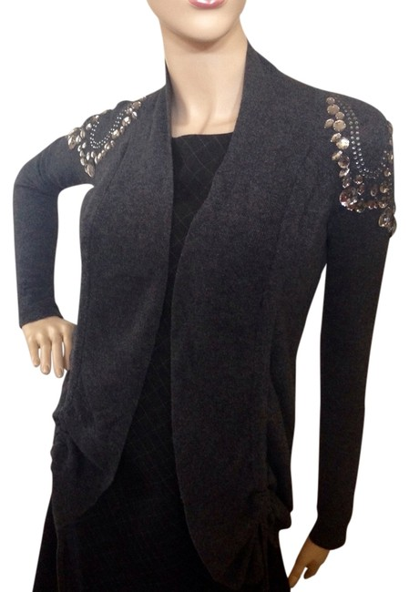 Preload https://img-static.tradesy.com/item/1417414/ax-armani-exchange-charcoal-gray-rhinestone-embellished-woolcashmere-blend-cardigan-size-petite-4-s-0-0-650-650.jpg