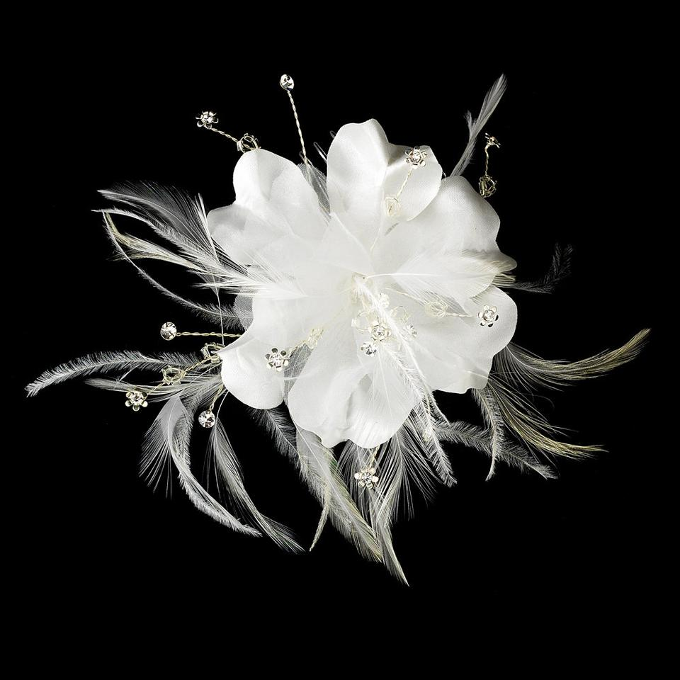 Elegance By Carbonneau White Most Popular Item Feather Flower