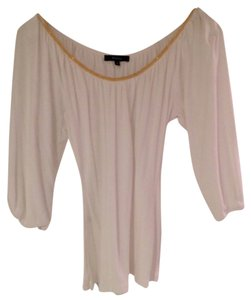 Express Top white with gold beading