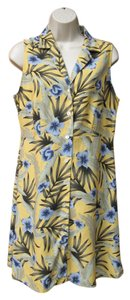 Boston Proper short dress Gold Yellow Silk Summer Sleeveless Hawaiian Knee-length on Tradesy