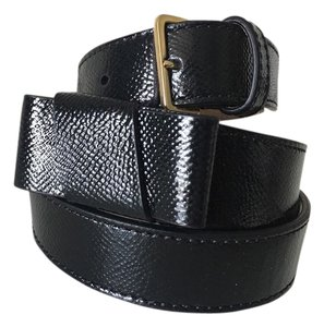 Burberry BURBERRY 15mm Rothlyn Saffiano Leather Bow Belt